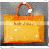 New design PVC transparent plastic carry bags TP7144