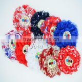 printed lace pearl rhinestone flower in pcs- you choose color- lace flower colorful rhinestone centre