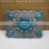 "Cross belt buckle with Rhinestones Plain Plate Buckle For 2 1/4"" Belts"