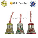 high quality metal christmas bell decoration handle cow bell