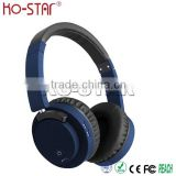 Fashionable design leather headband Hi-Fi super bass sound bluetooth headphone with aux in wired headphone