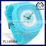 skyblue bright color silicone quartz watch shinning in night glow in night watch silicone luminescence quartz watch
