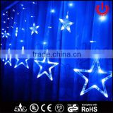 2016 new LED blue wedding decorative icicle star lights                                                                         Quality Choice