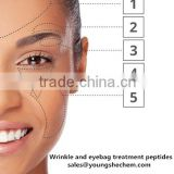 Wrinkle and eyebag treatment peptides Palmitoyl tripeptide-5 tetrapeptide-5 100 kinds cosmetics peptides available
