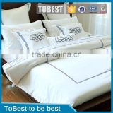 ToBest Hotel bedding wholesale bedding sets 100% cotton embroidery hotel duvet cover / bed sheet / pillowcase