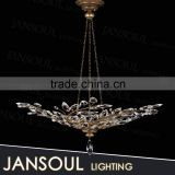 zhongshan lighting modern innovative christmas tree crystal pendant lights french style wrought iron chandelier