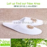 embroidery logo&pattern customized size cheap hotel disposable slipper factory in Yangzhou