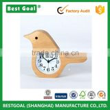Desk clock Bird Style Non-Ticking Silent Handmade Wood alarm Desk Clock                                                                         Quality Choice