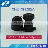 Factory price megapixel 1/3 inch F2.0 2.66mm motorized m12 cctv zoom lens for board camera