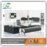 Good price stainless steel adge banding stalinite office executive desk with side table GAT181