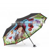 43Arc Kids Three Section Cartoon Umbrella Supplier/Animal Umbrella