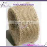30cm width natural burlap jute table runners rolls for wedding events, with surged edge