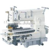 Flat-bed multi-needle double-chain circular sewing machine AS1412PVT