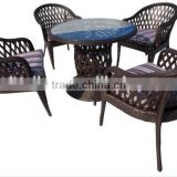 Recommended wicker rattan outdoor table and chairs set outdoor leisure furniture rattan bar chair