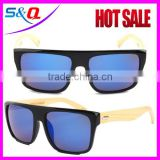 Fashion sunglasses bamboo temple sunglasses with acetate frame                                                                         Quality Choice