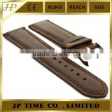 brown black genuine Leather Watch Band TWISTER Mens Stainless Steel Buckle