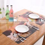 custom printed plastic table pp placemat high quality China supplier placemat