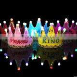 LED light Party Birthday Glow Flash King Princess King Headband Hat
