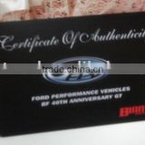 certificate of authenticity rfid card