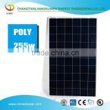 factory stock supply Grade B good quality polycrystalline solar panel 255W