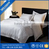 Polyester cotton hotel luxury 3cm stripe twin duvet cover / high fabric duvet cover set