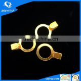 Gold alloy J buckle ring for bra strap adjuster