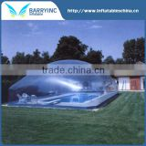 2016 cheap inflatable clear bubble tent for swimming pool ,pool cover