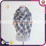 plaid blanket scarf oversized tartan scarfs winter warm scarves black white checkered scarf