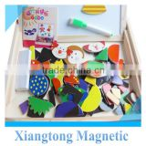 Animal Magnetic Jigsaw Puzzle Wooden for Children Two Sides Multifunction Writing Drawing Board Blackboard                                                                         Quality Choice