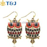 2015 hot! fashion pendent earrings European style boho style lady women kids owl drop earring