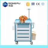 High Quality Stainless Steel mobile Hospital Nursing Cart/Dirty Linen Trolley