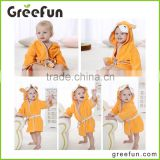 Baby Hooded Towels Squeaky Clean Yellow Fox Spa Bathrobe Hooded Baby Pajamas ,Baby Romper For 0-12 Months