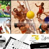 Sports Recreational Volleyball Set Beach Volleyball Set Beach Sport Toy (Adjustbale Pole ,net + w/carrying bag )