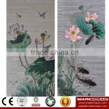 IMARK Traditional Chinese Flower Pattern Mosaic Mural/Glass Mosaic Mural Mosaic Art/Picture Pattern for House Wall Decoration