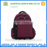 Fashion backpack purplish red personalized diaper bags boys