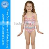 Cute one piece sexy girl photos kids in swimsuits/brightly colored zigzag kids swimming suits/children bikinis swimwear