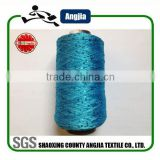 100% spun polyester sequin yarn sewing thread used in sweater, scarf, carpet, curtain, handicraft and so on