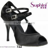 Suphini Black Dance Sport Shoes Heel Tango Shoes