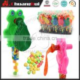 Frog Blow Balloon Toy Candy / Frog with Balloon Whistle