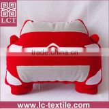 supply 2015 best selling customized patchwork polar fleece car shaped cushion accessory blanket insert(LCTP0170)