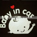 Baby in car Car sticker, factory outlet reflective warning car sign, car sticker, infant boy baby in car decal