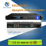 Satellite signal descrambler & stream bitrate Transcoder with 8CH SD ability COL5081TC