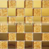 Foshan Mosaic Tiles Glass Mosaic Tiles Golden Mosaic Tiles for Hotel Project/House Decor