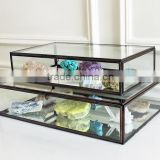 Multipurpose Box Glass Cabinet, Storage Glass Box, Glass Display Box, Bangle Box, Triangle Box, Diamond Box, Triangle Shape,002