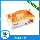 wholesale custom paper donut packaging box, paper gift packaging box,300 gsm paper box packaging