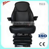 Luxury leather cover auto part pneumatic seats for bulldozer roller truck