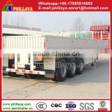 Truck trailer type China manufacture good quality Tri axles flat deck drop side new cargo semi trailer price
