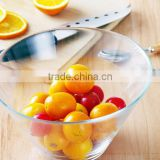 High quality glass mixing bowls with food grade / Clear glass salad bowl