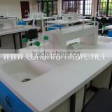 Solid surface chemical resistant laboratory bench worktops with sink