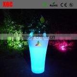 Illuminated indoor square planter flower pots with RGB led lights GD115
